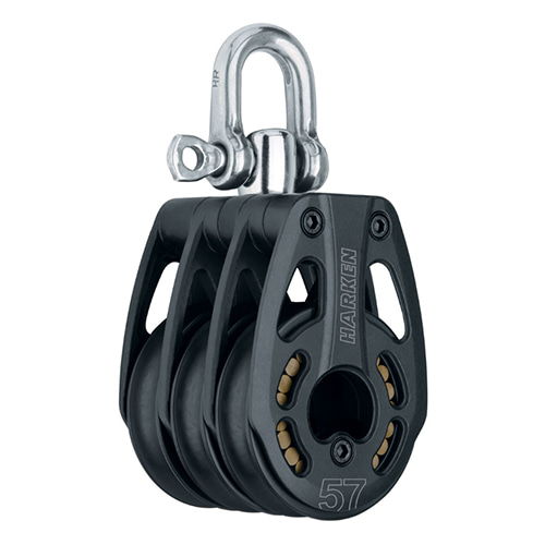 57 mm Aluminum Triple Block — Swivel (No.3219) Harken