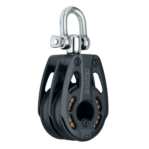75 mm Aluminum Double Block — Swivel (No.3233) Harken